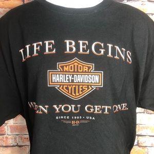 HARLEY DAVIDSON Life Begins When You Get Pelham